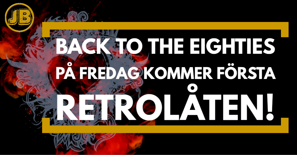Back to the eighties – På fredag kommer första retrolåten!